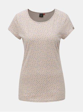 Růžové dámské vzorované tričko Ragwear