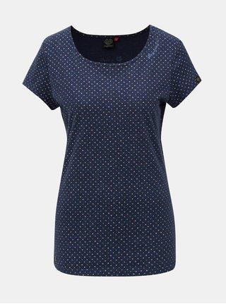 Modré dámské vzorované tričko Ragwear