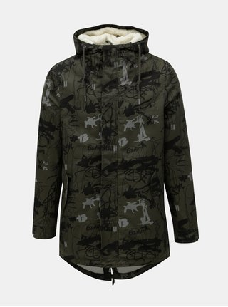 Geaca parka de iarna kaki cu model ONLY & SONS Scott