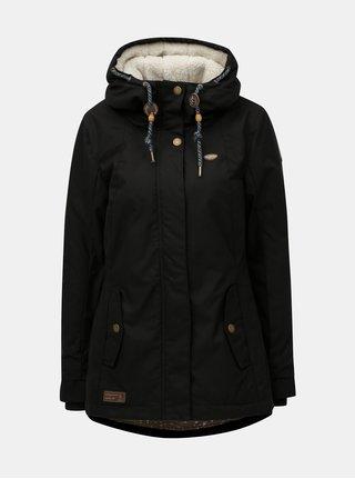Čierna dámska zimná bunda s kapucňou Ragwear Monade