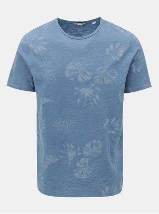 Tricou albastru cu imprimeu ONLY & SONS Malik