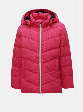 Ružová dievčenská zimná prešívaná bunda Name it Mil