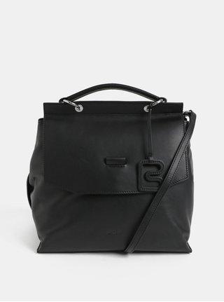 Černá kožená kabelka BREE Stockholm 31
