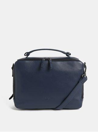 Modrá kožená kabelka s odnímatelným popruhem BREE Nieva 2