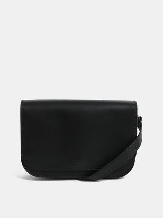 Čierna malá kožená crossbody kabelka BREE Cambridge 15