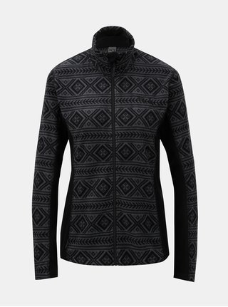 Bluza sport gri–negru din fleece cu model Kari Traa