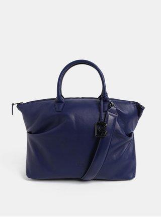 Modrá velká kožená kabelka do ruky BREE Stockholm 37 c71fc08e798