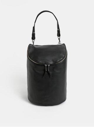 Černý kožený batoh BREE Stockholm 40