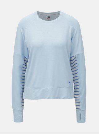 Světle modré funkční tričko s dlouhým rukávem Kari Traa