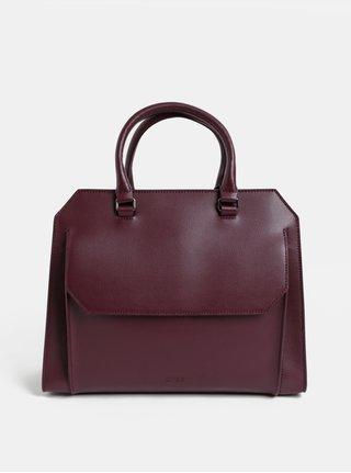 Vínová kožená kabelka s vreckom BREE Cambridge 13