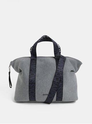 Šedá žíhaná kabelka BREE Icon