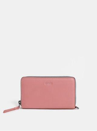 Růžová kožená malá peněženka BREE Issy 134