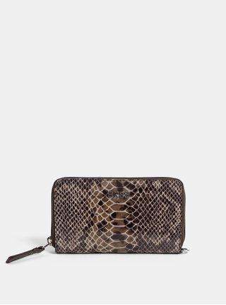 Hnedá kožená malá vzorovaná peňaženka BREE Issy 134