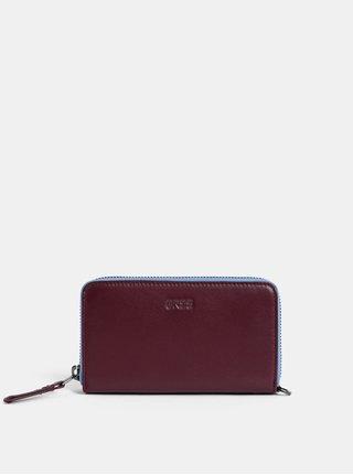 Vínová kožená malá peněženka BREE Issy 134