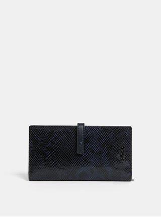 Čierna kožená vzorovaná peňaženka BREE Issy 136