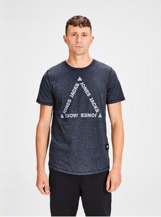 Tmavomodré melírované tričko Jack & Jones Gel