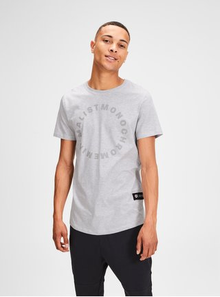 Tricou gri deschis melanj Jack & Jones Gel