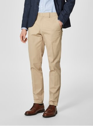 Pantaloni chino bej Selected Homme