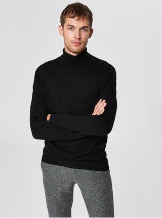Čierny rolák s prímesou hodvábu Selected Homme
