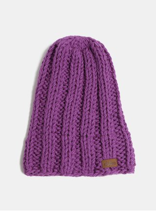 Fialová pletená zimná čiapka DOKE