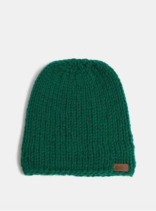 Zelená pletená zimná čiapka DOKE