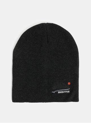 Čierna pánska čiapka Superdry