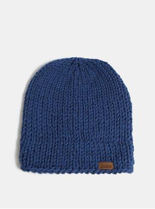 Modrá zimná pletená čiapka DOKE