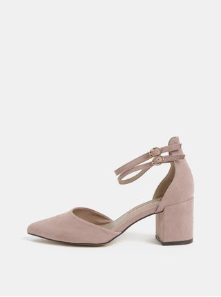 Sandale roz din piele intoarsa Dorothy Perkins