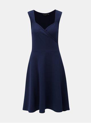 Rochie albastru inchis cu decolteu suprapus Dorothy Perkins Tall