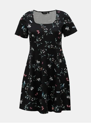 Rochie neagra florala Dorothy Perkins Curve