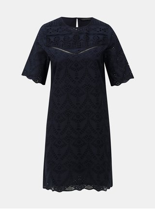 Tmavě modré šaty s madeirou Dorothy Perkins
