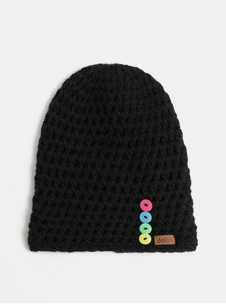 Čierna pletená zimná čiapka DOKE