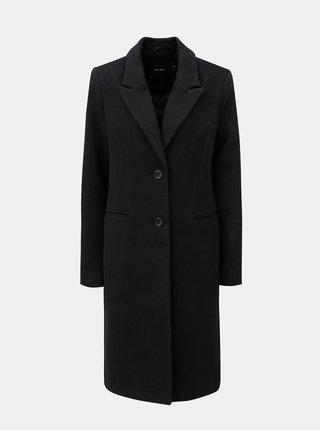 Černý kabát s příměsí vlny VERO MODA Blaza