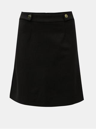 Černá sukně s detaily ve zlaté barvě Dorothy Perkins