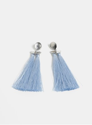 Modré náušnice so strapcami Pieces Kasia