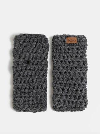Sivé pletené návleky na ruky DOKE
