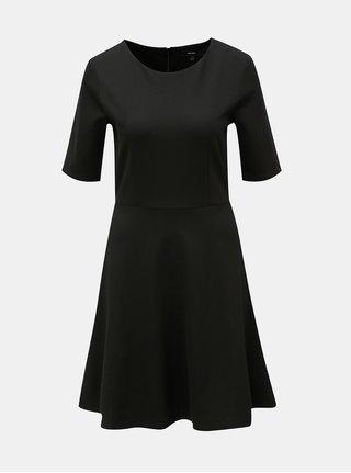 Černé šaty s krátkým rukávem VERO MODA Teresa