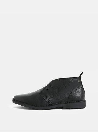 Pantofi barbatesti negri din piele Jack & Jones Gobi