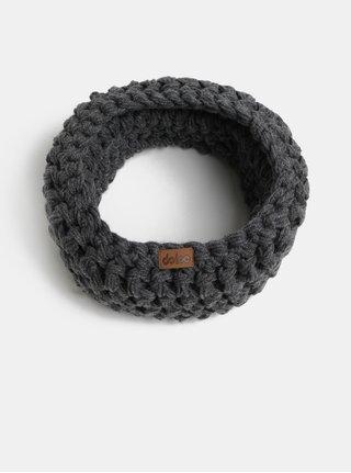 Tmavosivý pletený nákrčník DOKE