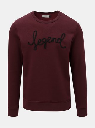 Bluza sport bordo Jack & Jones Ceaw