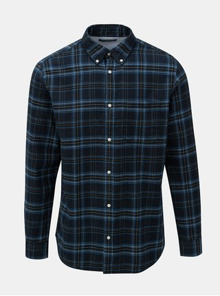 Čierno–modrá károvaná košeľa Jack & Jones Carrick