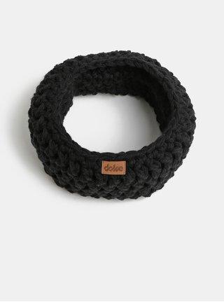 Fular circular negru impletit DOKE