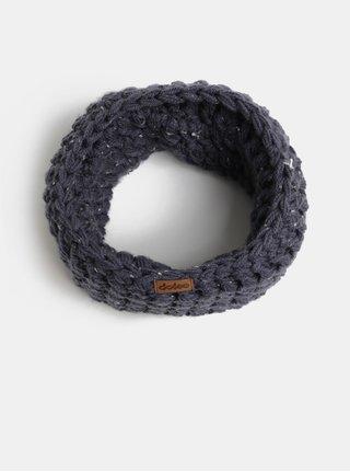 Tmavomodrý pletený nákrčník DOKE