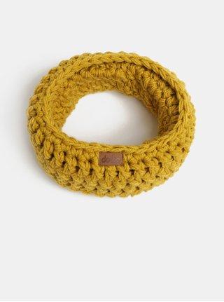 Horčicový pletený nákrčník DOKE