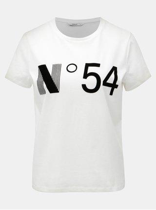 Tricou alb cu imprimeu ONLY Magga