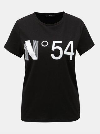 Čierne tričko s potlačou ONLY Magga