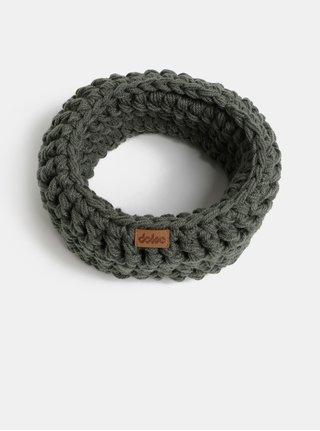 Fular circular gri inchis impletit DOKE