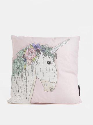 Světle růžový polštářek s motivem jednorožce Butter Kings