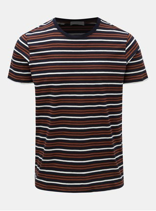 Tricou maro-albastru in dungi Selected Homme Bruno