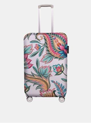 Světle růžový obal na kufr s potiskem Maroko Butter Kings